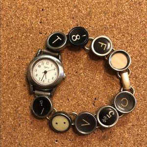Jewelry - Typewriter key watch